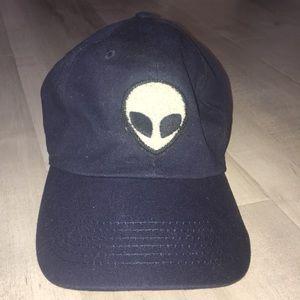 Brandy Melville Navy Blue Alien Hat